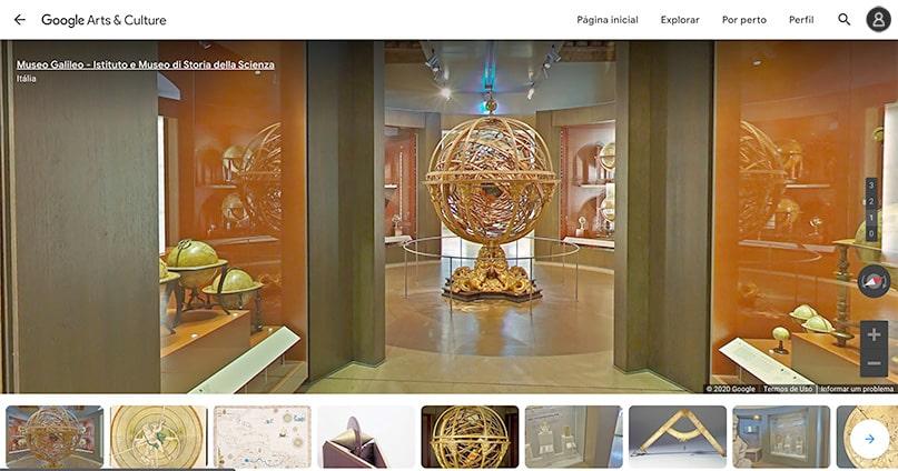visite o Museu Galileu sem sair de casa