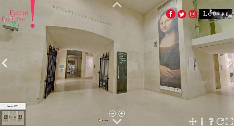 visite Museu do Louvre sem sair de casa