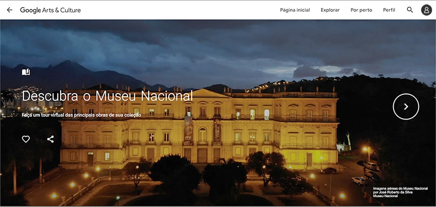 Museu Nacional sem sair de casa