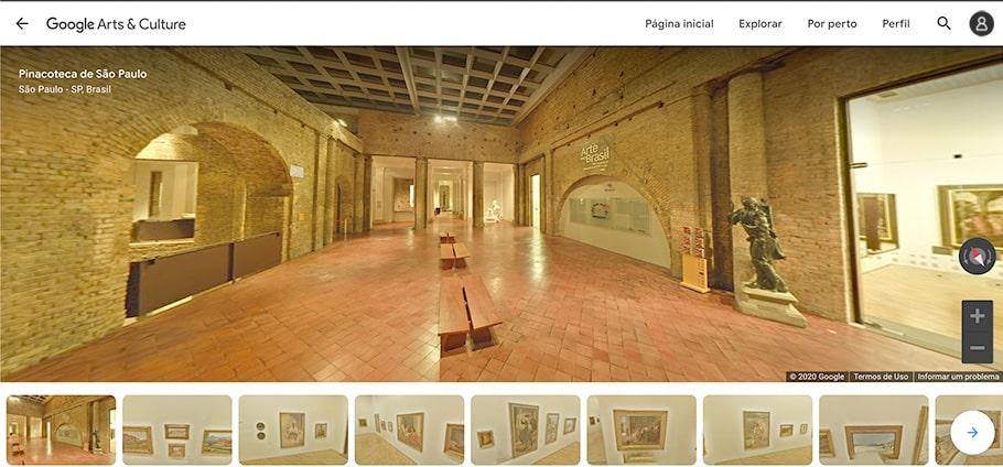 visite Pinacoteca de São Paulo sem sair de casa